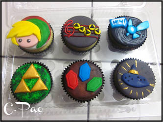Cupcakes Zelda by CPao