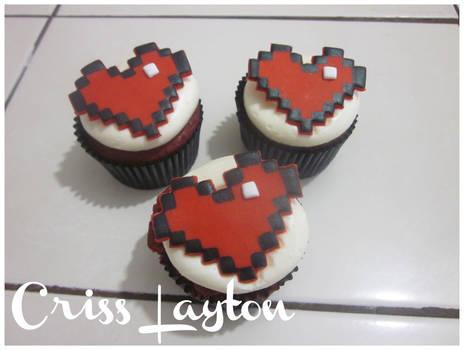 Cupcakes Hearts 8 bits