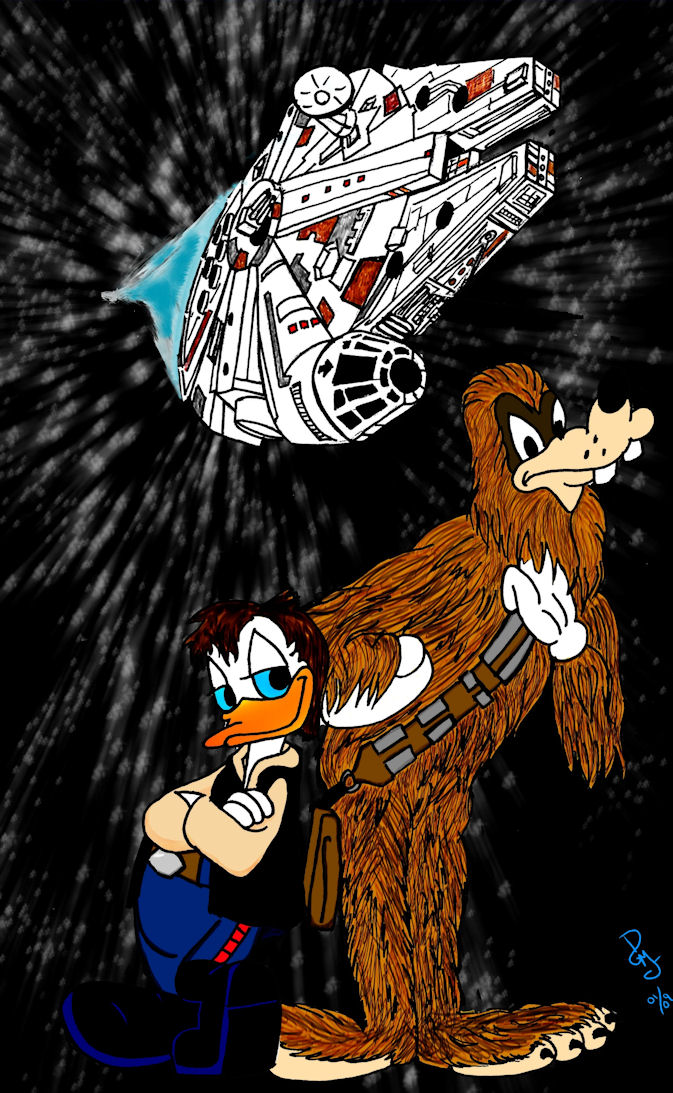 Duck Solo And Goofbacca by dgtrekker