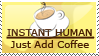 Stamp: Instant Human by etchedglass
