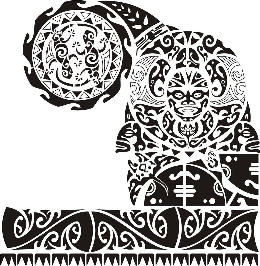 Maori tattoo by alanjmaranho on deviantart for Maui tattoo stencil