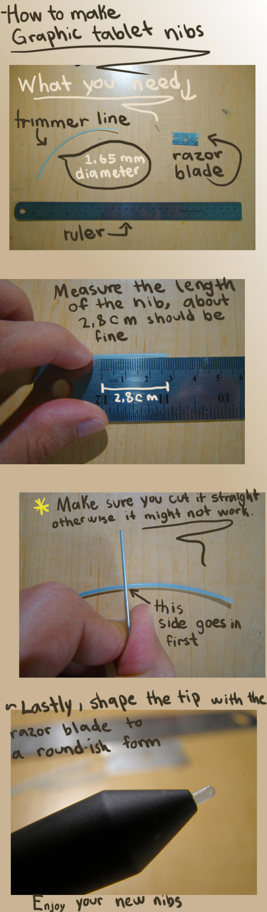 How to make your own graphic tablet nibs by l-gray-l