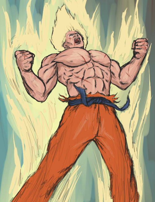 Goku by l-gray-l