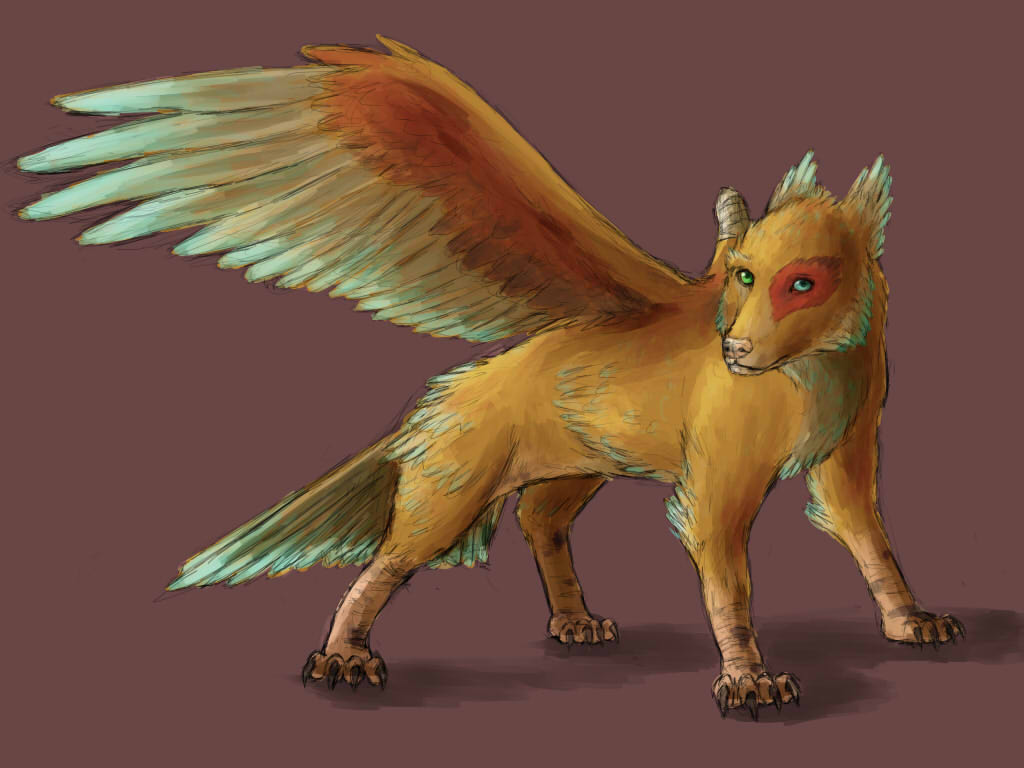 One wing dog by l-gray-l