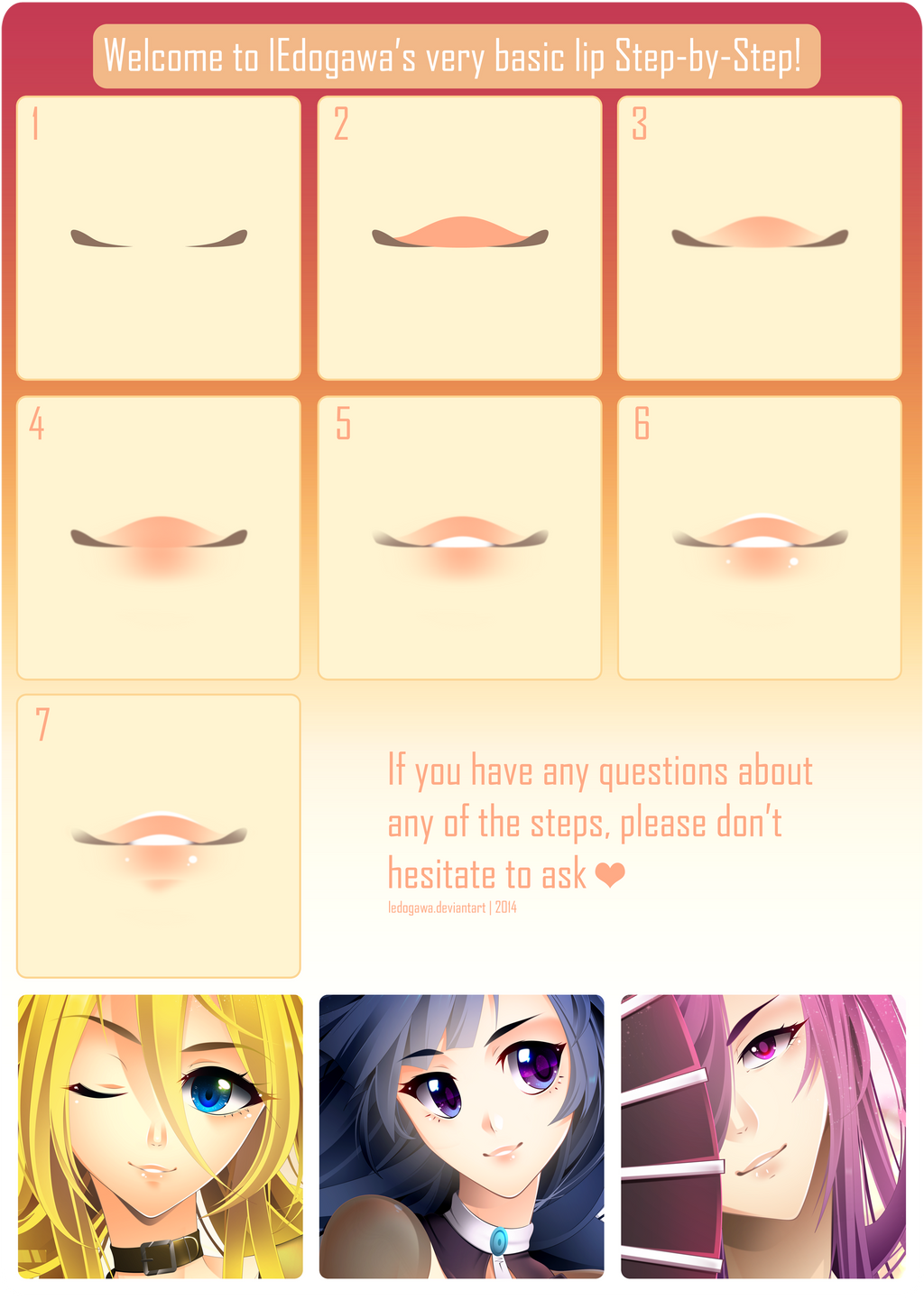 Anime lips step by step by ledogawa on deviantart anime lips step by step by ledogawa baditri Image collections