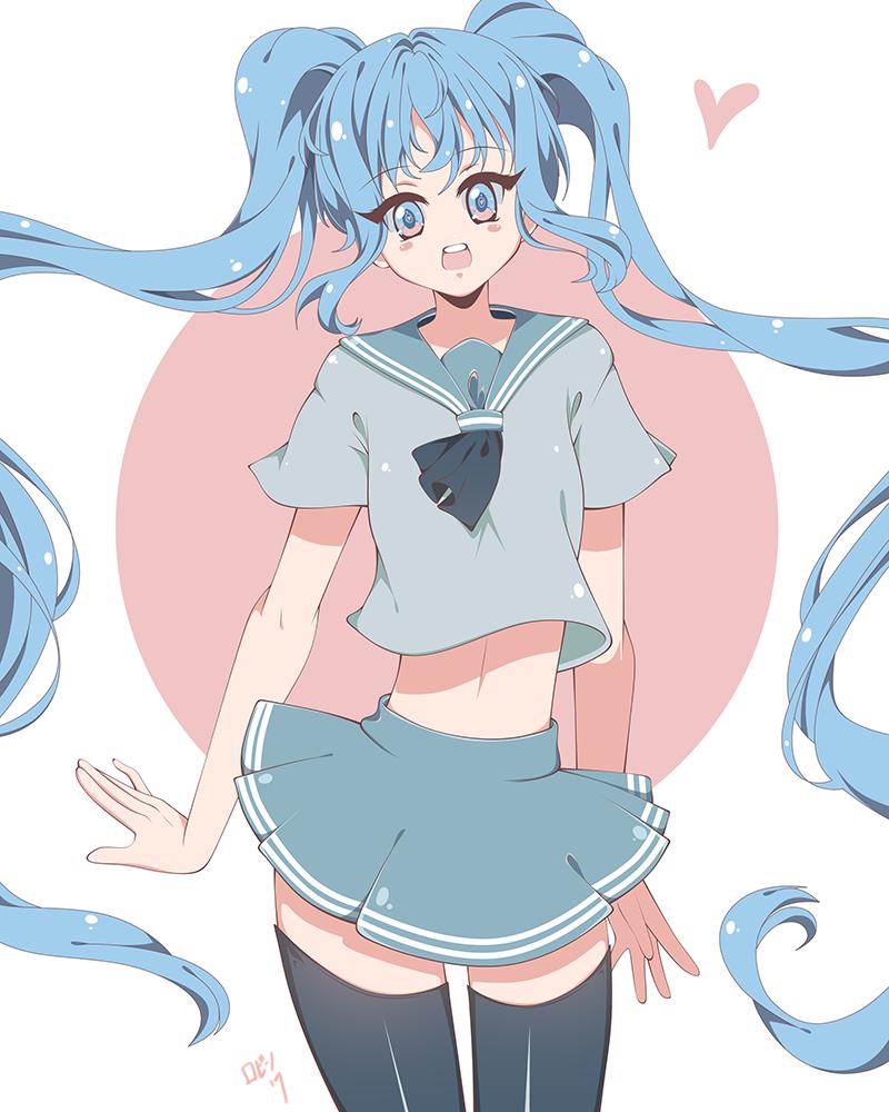 School girl Miku by lEdogawa