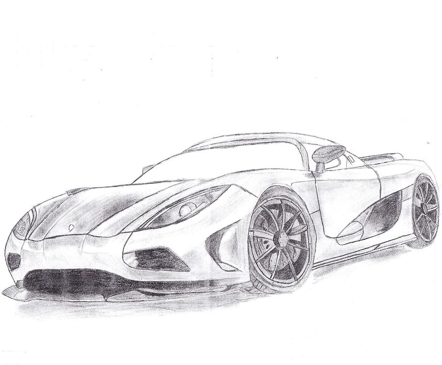 Koenigsegg Agera [Draw] by SorcePk on DeviantArt
