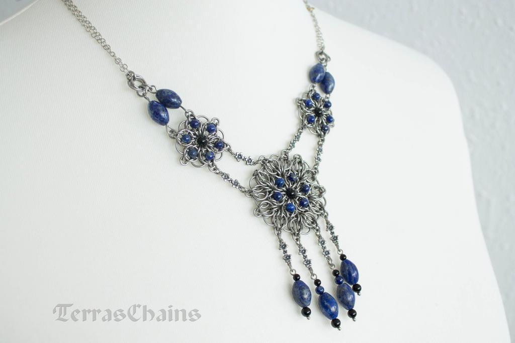 Flower Lazuli necklace by TerrasChains