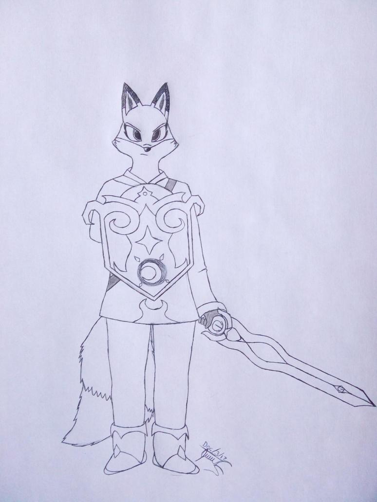 Leaf Woodheart: Armed Render by MarianoGoldheart