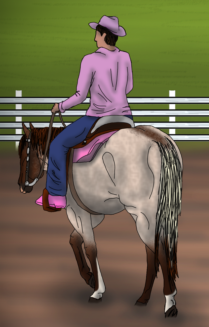 Western Pleasure Horse Coloring Pages Flyboy_at_windfall_winter_ ...