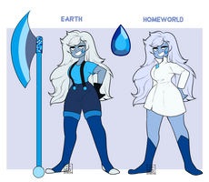 [SU OC] Royal Blue Apatite|gemsona by Flamingo-sama