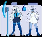 [SU OC] Royal Blue Apatite gemsona