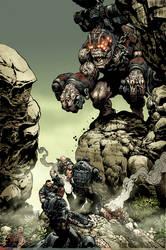 Gears of War Brumak issue 3 by LiamSharp