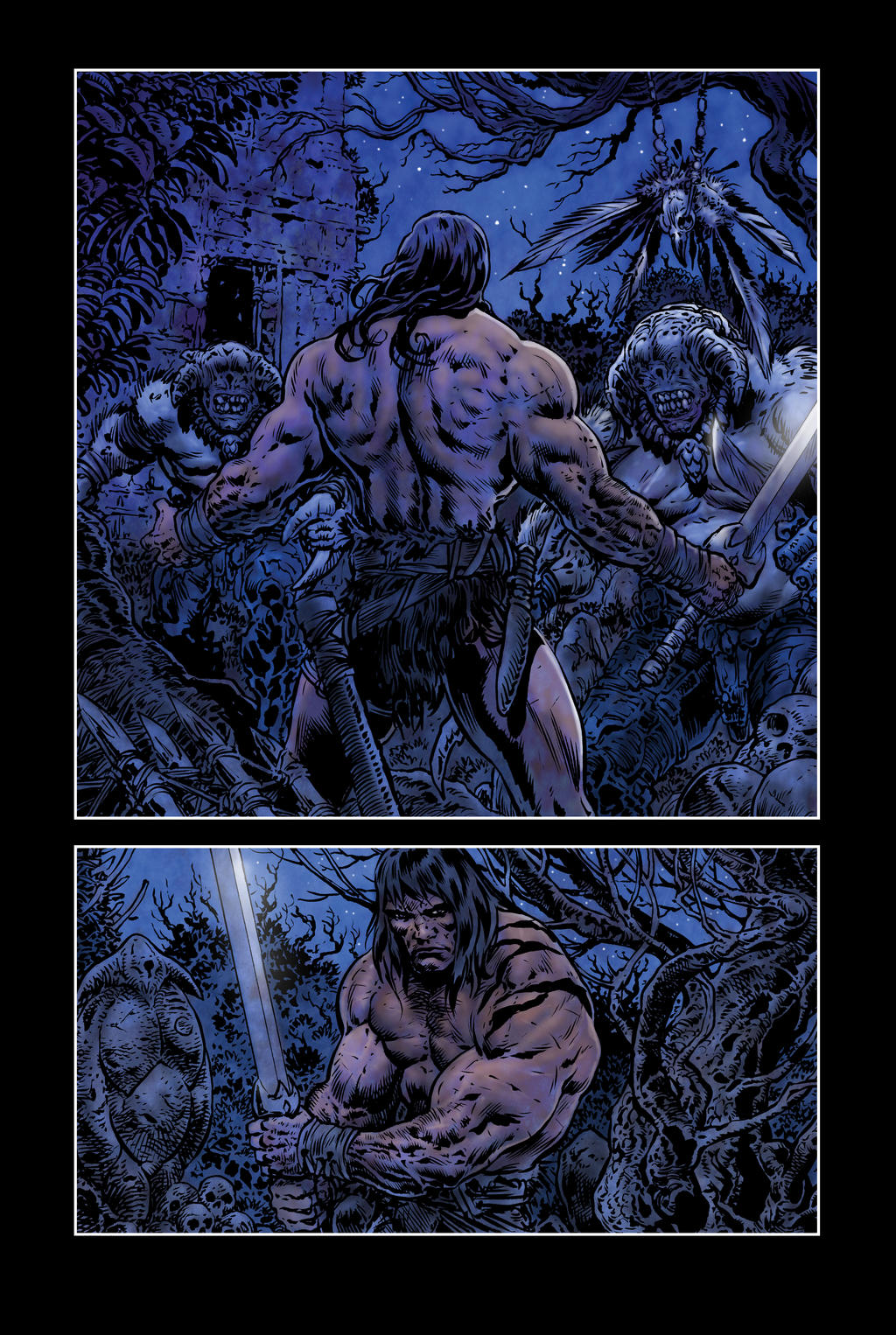 C >> barbarian comic page 01 by LiamSharp on DeviantArt