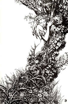 Old Manthing piece for Marvel