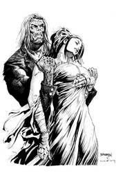 Frankenstein's Bride swoons...