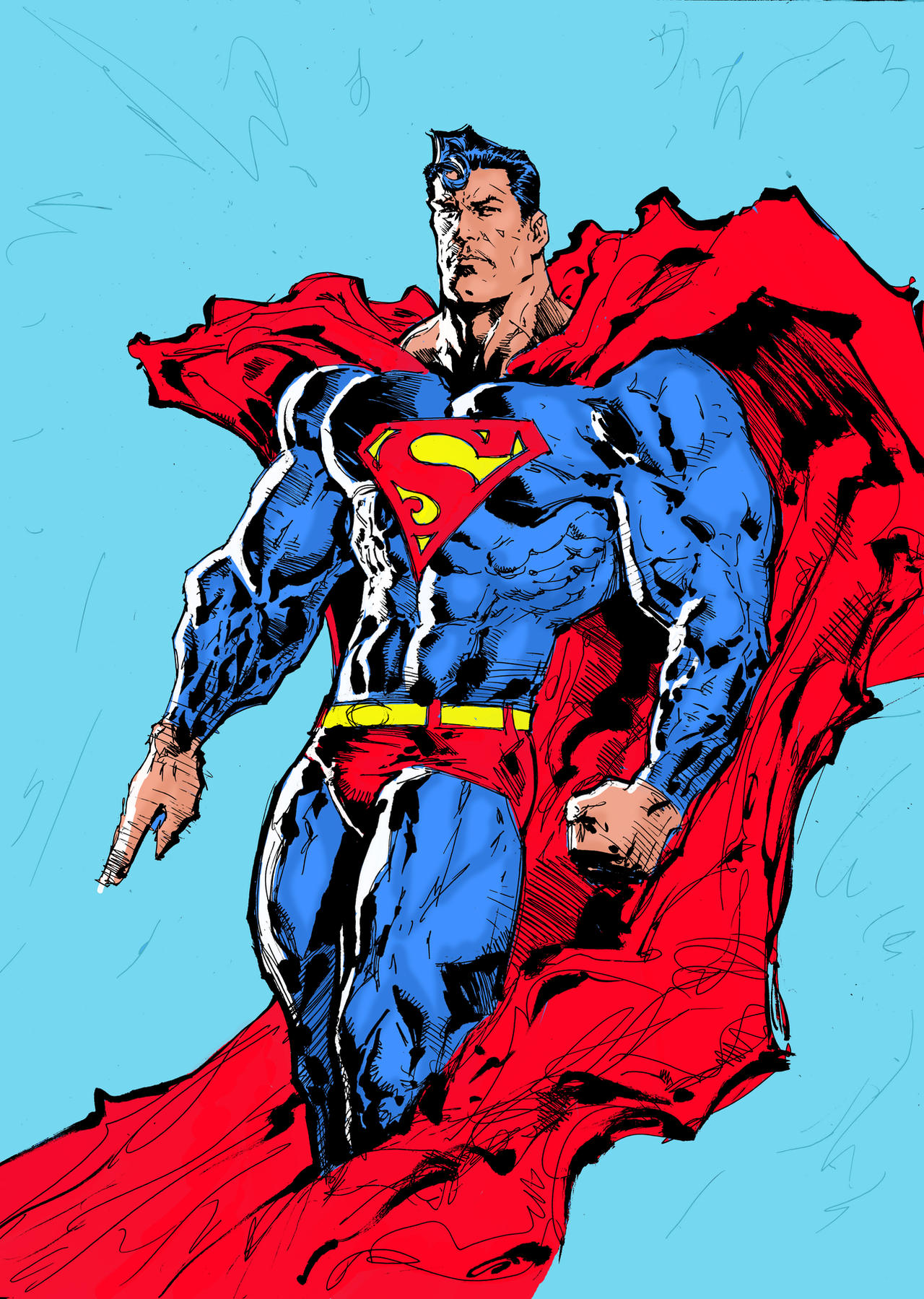 Superman colored by LiamSharp