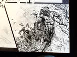 Detail from Wonder Woman spread WIP