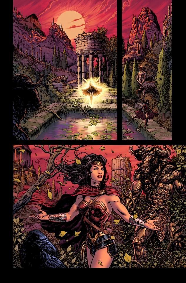 Wonder Woman Rebirth page by LiamSharp