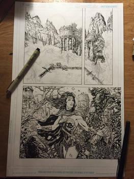 Wonder Woman page WIP