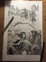 Wonder Woman page WIP by LiamSharp