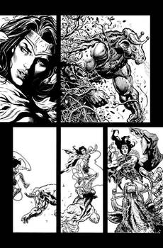 Wonder Woman pencils and inks