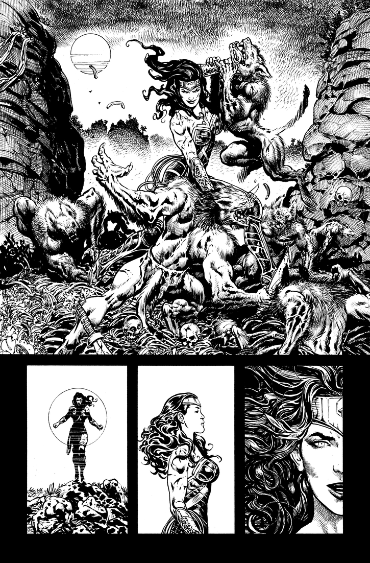 Wonder Woman doing her thing by LiamSharp