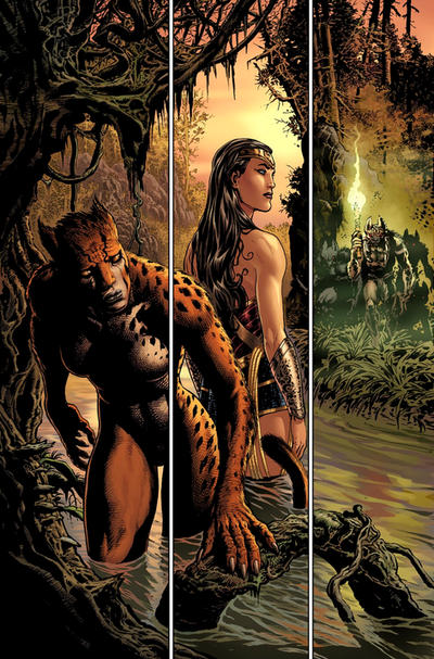 Diana and Cheetah pursued by LiamSharp