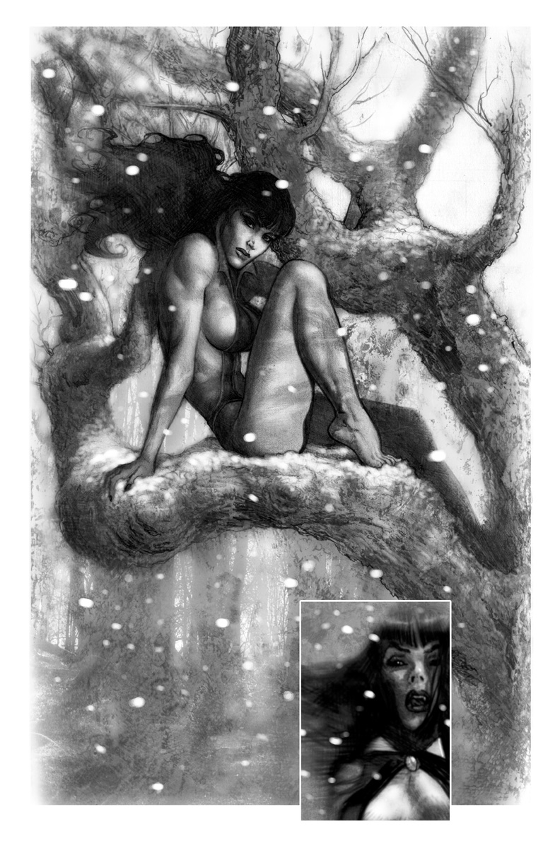 Vampirella Winter Rose 1 by LiamSharp