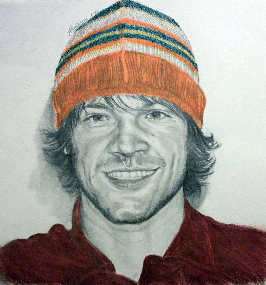 Jared Padalecki and his beautiful orange hat...