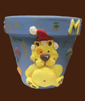 Ted Christmas Flower Pot