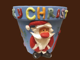 Father Christmas (3D design) Flower Pot