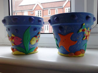 Ocean Flower Pots (2nd pair)