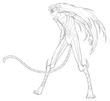 Pantera lineart by meili-melee