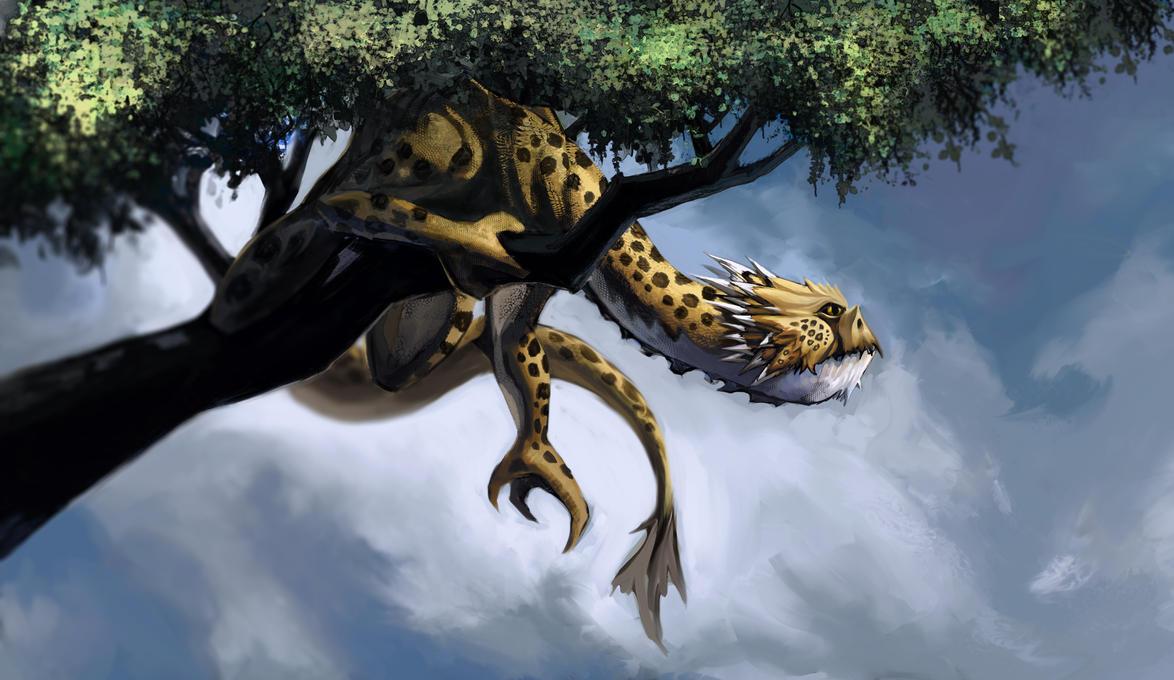 Leopard Dragon by mattwatier