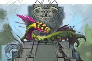 Quetzalcoatl Sketch