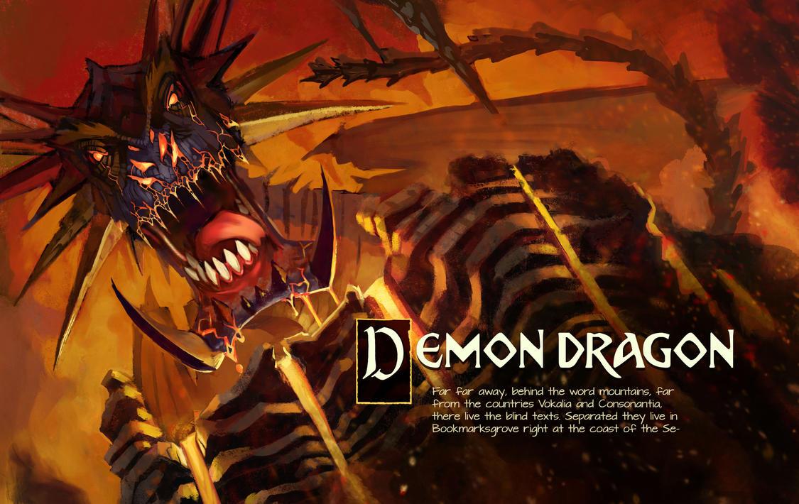 Demon Dragon Page Test by mattwatier