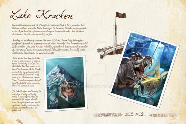 Lake Kracken Page Layout by mattwatier