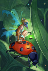 Lantern Fairy With Mask