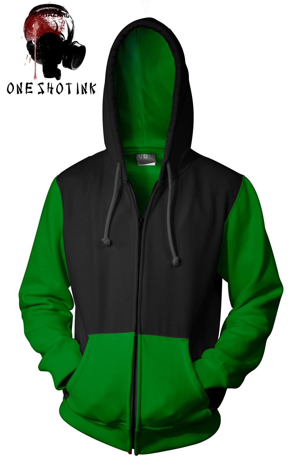 Black And Green Hoodie by karatealive on DeviantArt