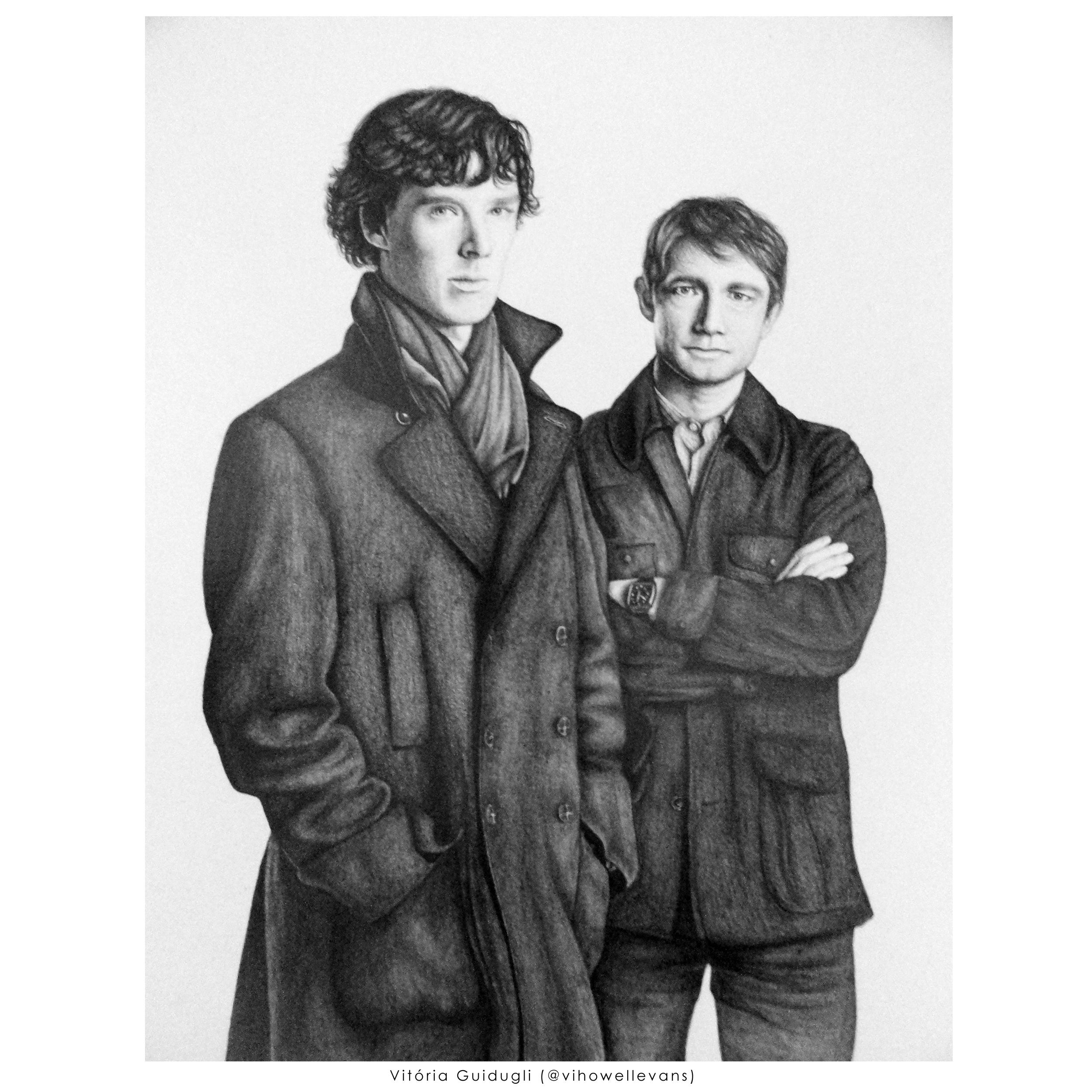 Sherlock and John by vitoriaguidugli