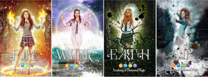 The Academy of Elemental Magic Series  (SOLD) by Triniegd