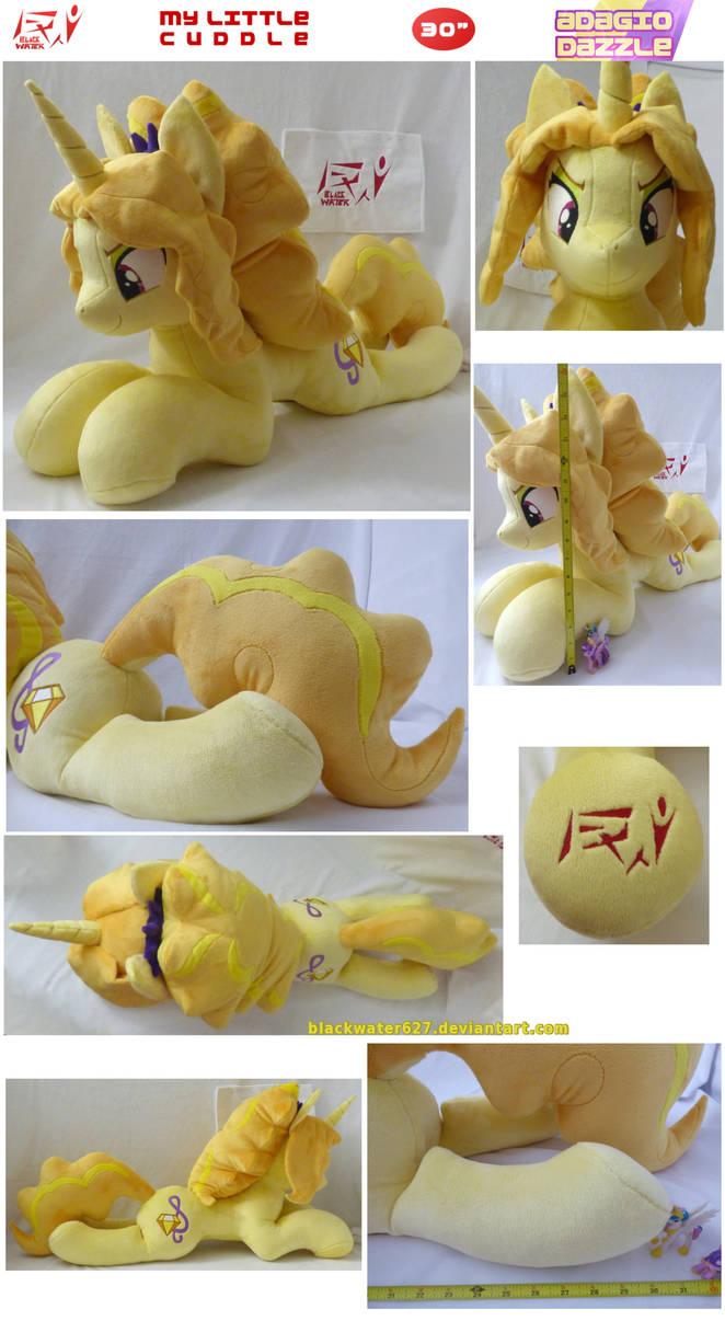 My Little Cuddle: Adagio Dazzle (EG Pony) by BlackWater627