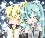 Len and Miku