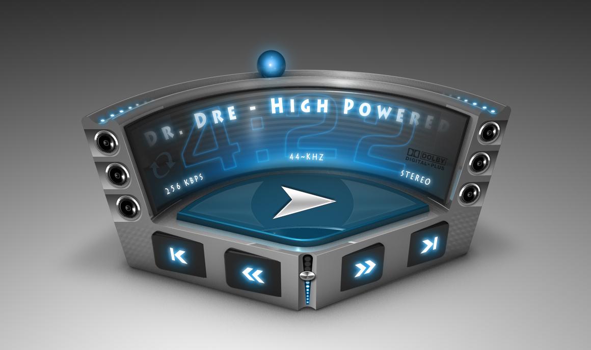 3D Music Player UI by mycort on DeviantArt