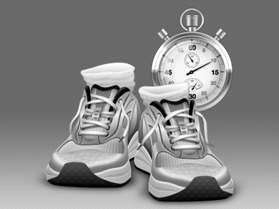 Shoes and StopWatch by mycort