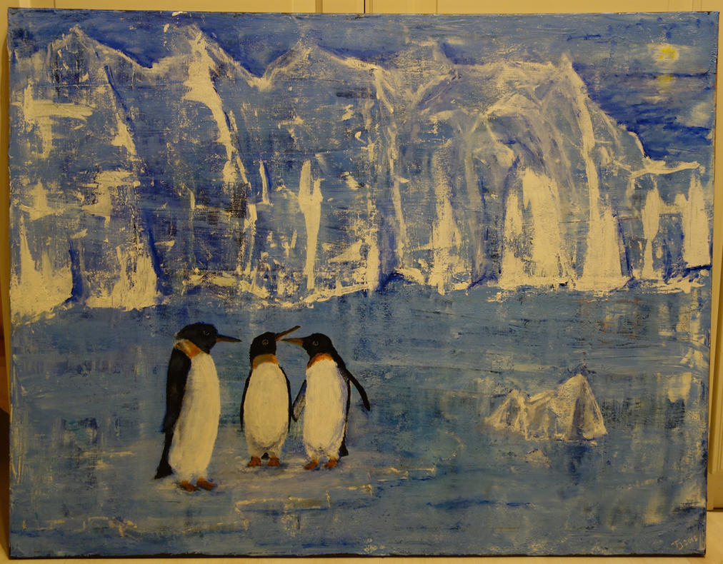 Penguin painting finished by LesleyHammond