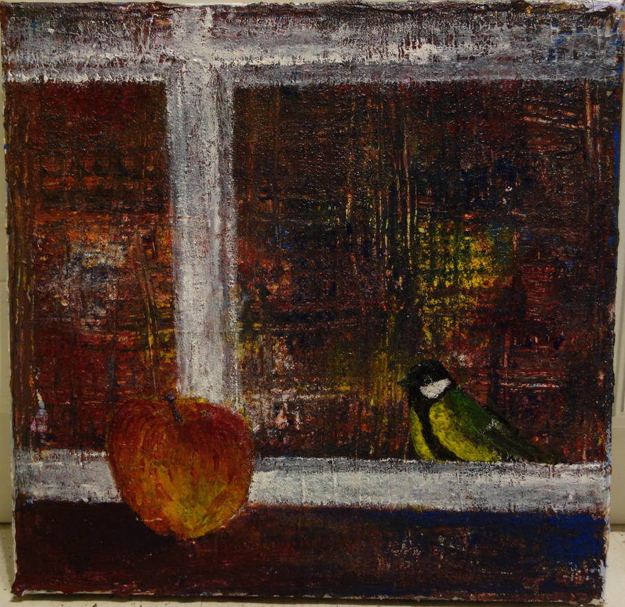 The Apple behind the window by LesleyHammond