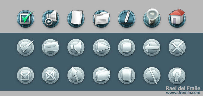 Icons, web buttons