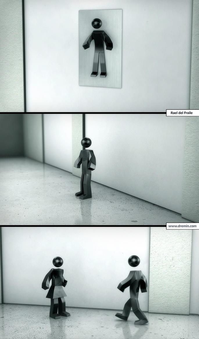 Monigotes de WC by Dremin